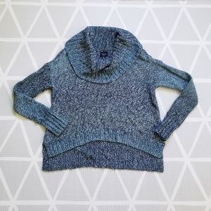 American Eagle Cropped Cowl Neck Ombre Sweater